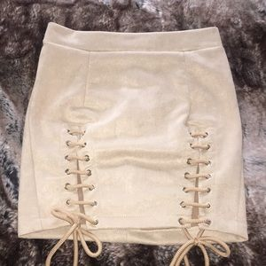 Dresses & Skirts - Faux suede sexy skirt in size small